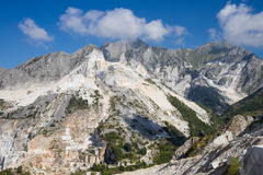 Carrara's marble quarries in Italy Royalty Free Stock Photography