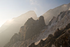 Carrara's marble quarry Royalty Free Stock Photography