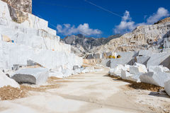 Carrara's marble quarry in Italy Stock Image
