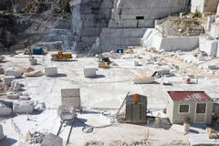 Carrara's marble quarry in Italy Stock Photography
