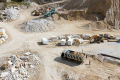 Carrara's marble quarry in Italy Royalty Free Stock Image