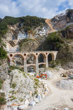 Carrara's marble quarry Royalty Free Stock Photo