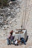 Carrara-Steinbrüche Stockfoto