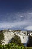 Carrara, weiße Marmorsteinbrüche Lizenzfreie Stockfotos