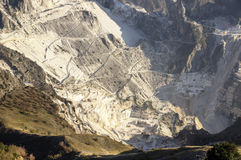 Carrara, white marble quarries Royalty Free Stock Photography