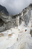 Carraran marble quarry Royalty Free Stock Images