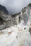 Carraran marmeren steengroeve Royalty-vrije Stock Afbeeldingen