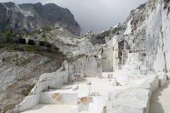 Carraran marmeren steengroeve Stock Foto