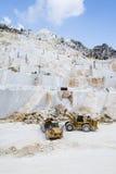 Carraran-Marmorsteinbruch Lizenzfreies Stockfoto
