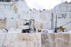 Carraran-Marmorsteinbruch Lizenzfreie Stockfotografie