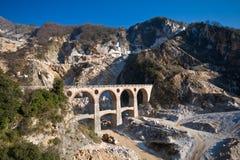 Carraras Marmorsteinbruch Lizenzfreies Stockfoto