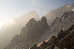 Carraras Marmorsteinbruch Lizenzfreie Stockfotografie