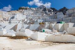 Carraras Marmorsteinbruch in Italien Lizenzfreie Stockfotos