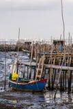 Carrasqueira古老捕鱼港口 免版税图库摄影