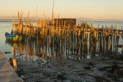 Carrasqueira forntida fiskeport Arkivbilder