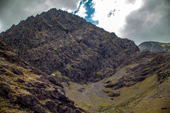 Carrauntoohil peak. The peak of Carrauntoohil, the highest peak on the island of Ireland in County Kerry Stock Photo
