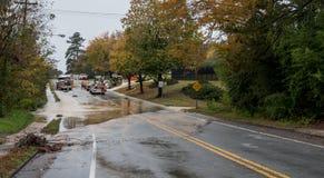 Carrboro, NC, E.U. 5 de novembro de 2018: Bombeiros e autoridade de água foto de stock royalty free