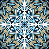 Carreau de céramique d'azulejo portugais illustration libre de droits