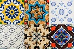 Carreau de céramique de vintage marocain de style de Spanich Image libre de droits