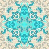 Carreau de céramique Portugais, motifs marocains, espagnols, indiens Ornement abstrait de Paisley et de fleurs Modèle pour la tai illustration stock