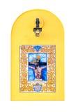 Carreau de céramique religieux Photographie stock