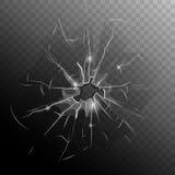 Carreau de fenêtre cassé illustration de vecteur