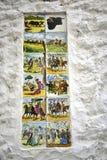 Carreaux de céramique dépeignant des aspects de culture espagnole dans la vieille ville de Marbella sur Costa del Sol Spain photographie stock