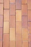 Carreaux de céramique de Brown sur la rue Image libre de droits