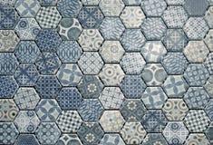 Carreaux de céramique hexagonaux Images libres de droits