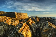 Carreco fortress in Viana do Castelo Royalty Free Stock Images