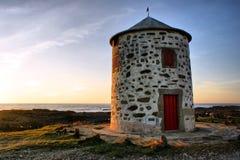 Carreco windmill in Viana do Castelo Royalty Free Stock Photos