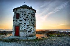Carreco windmill in Viana do Castelo Stock Photo
