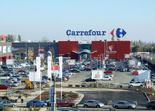 carrefour Royaltyfria Foton