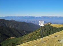 Carrefour de montagne Photographie stock libre de droits