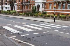 Carrefour de route d'abbaye, Londres image libre de droits