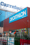 Carrefour and Decathlon Stock Image