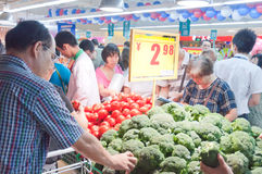 Carrefour en Chine Image stock