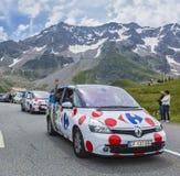 Carrefour-Fahrzeug - Tour de France 2014 Stockbild