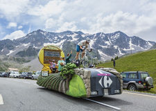 Carrefour-Fahrzeug - Tour de France 2014 Stockfotografie