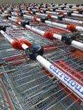 Carrefour fury przed sklepem zdjęcia stock