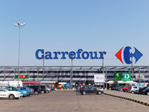 Carrefour-Grossmarkt Lizenzfreie Stockbilder