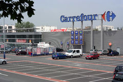 Carrefour Hypermarket Stock Photography