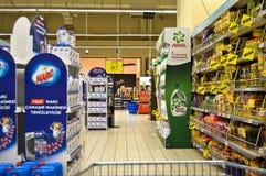 Carrefour Istanbuł Maltepe, czyściciel sekcja zdjęcia royalty free