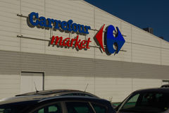 Carrefour market Stock Photo