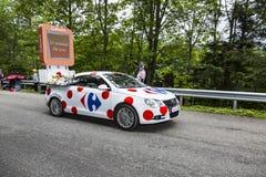 Carrefour pojazd - tour de france 2014 Zdjęcia Royalty Free