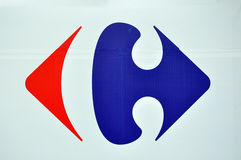 Carrefour store logo Stock Images