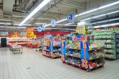 Carrefour Supermarkt Royalty-vrije Stock Foto's