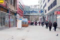 Carrefour unirii Stock Image