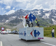 Carrefour Vehicle - Tour de France 2014 Royalty Free Stock Photography