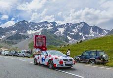 Carrefour Voertuig - Ronde van Frankrijk 2014 Royalty-vrije Stock Foto's